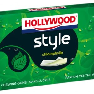 Chewing gum STYLE menthe verte , boite 18